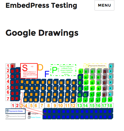 A responsive Google Drawing embed inside a WordPress post