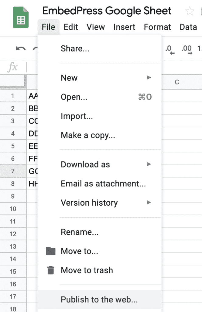 How to Embed Google Sheets in WordPress - EmbedPress