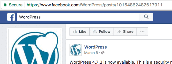 Taking the URL of a Facebook post