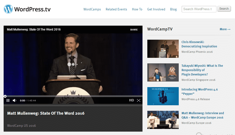 Embed WordPress.tv Videos