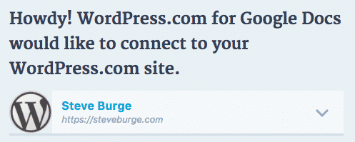 Google Docs WordPress connection