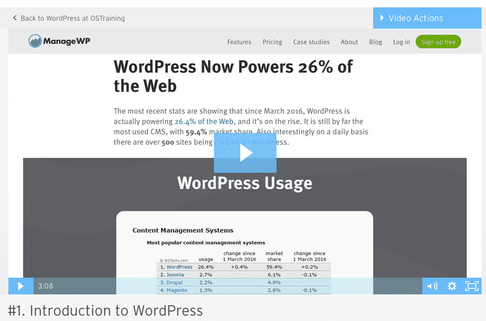 A WordPress Wistia video embed