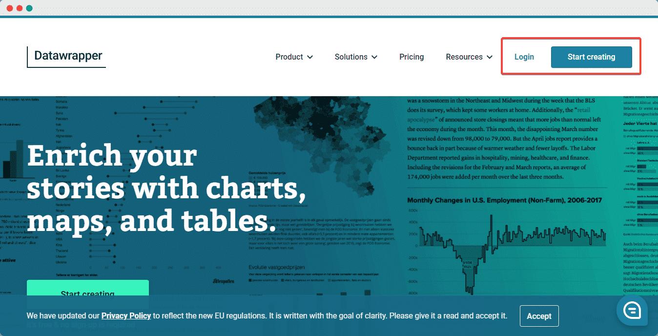 embed Datawrapper data chart