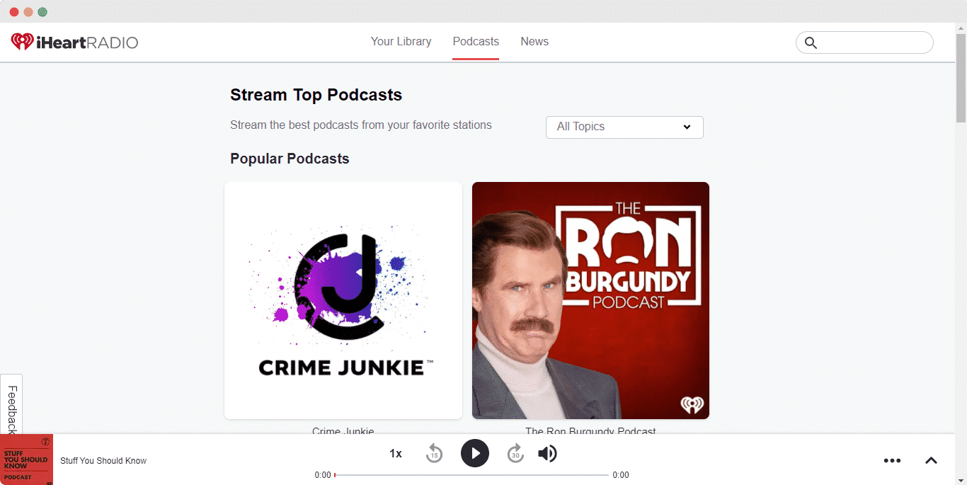 embed iHeartRadio podcasts