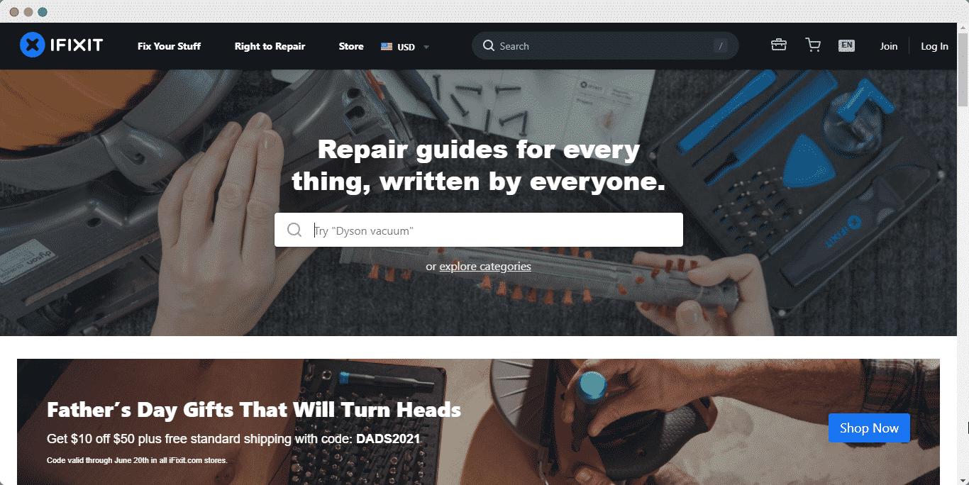 embed iFixit repair manual