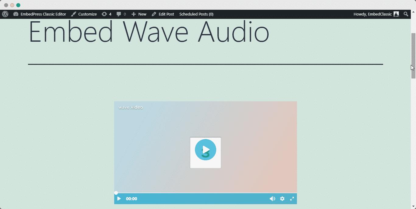 embed Wave videos