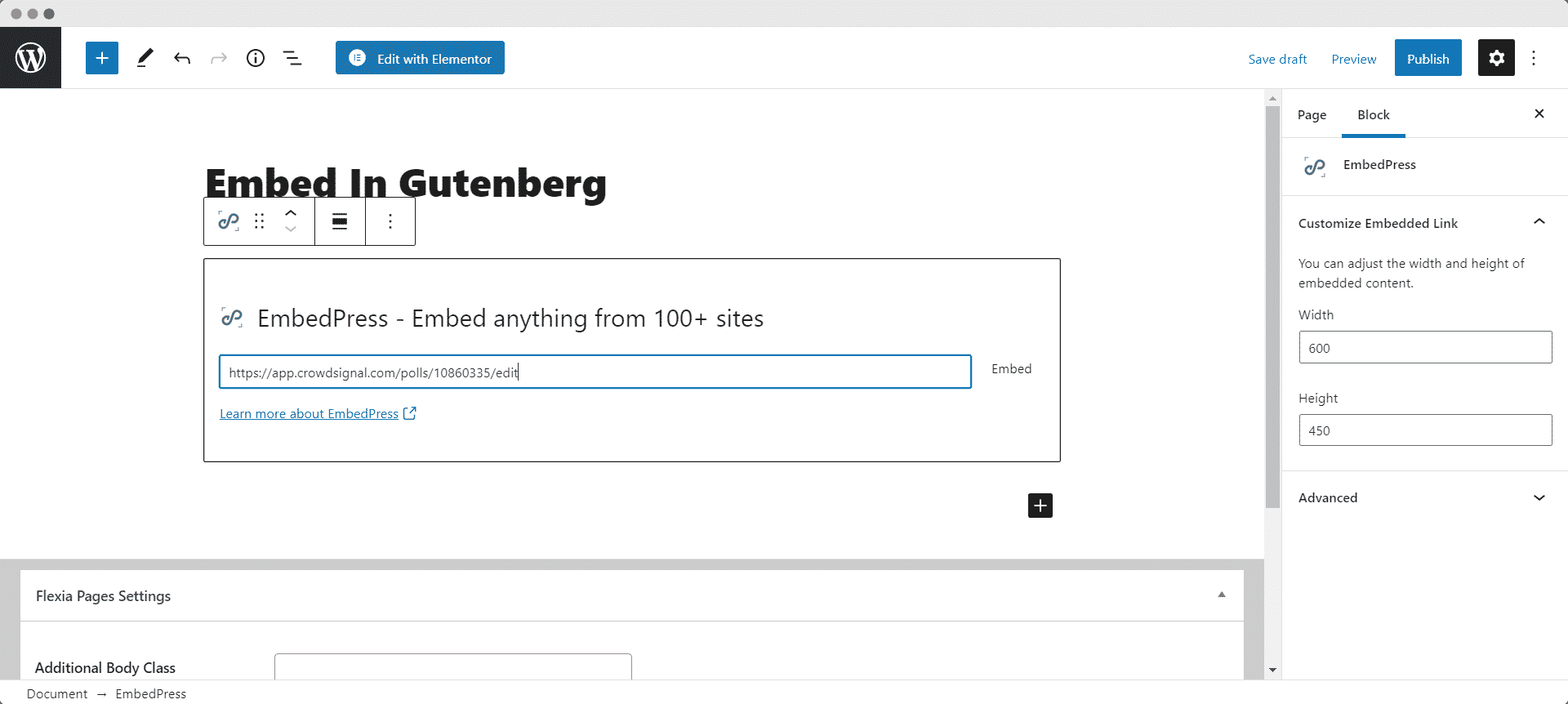 embed crowdsignal