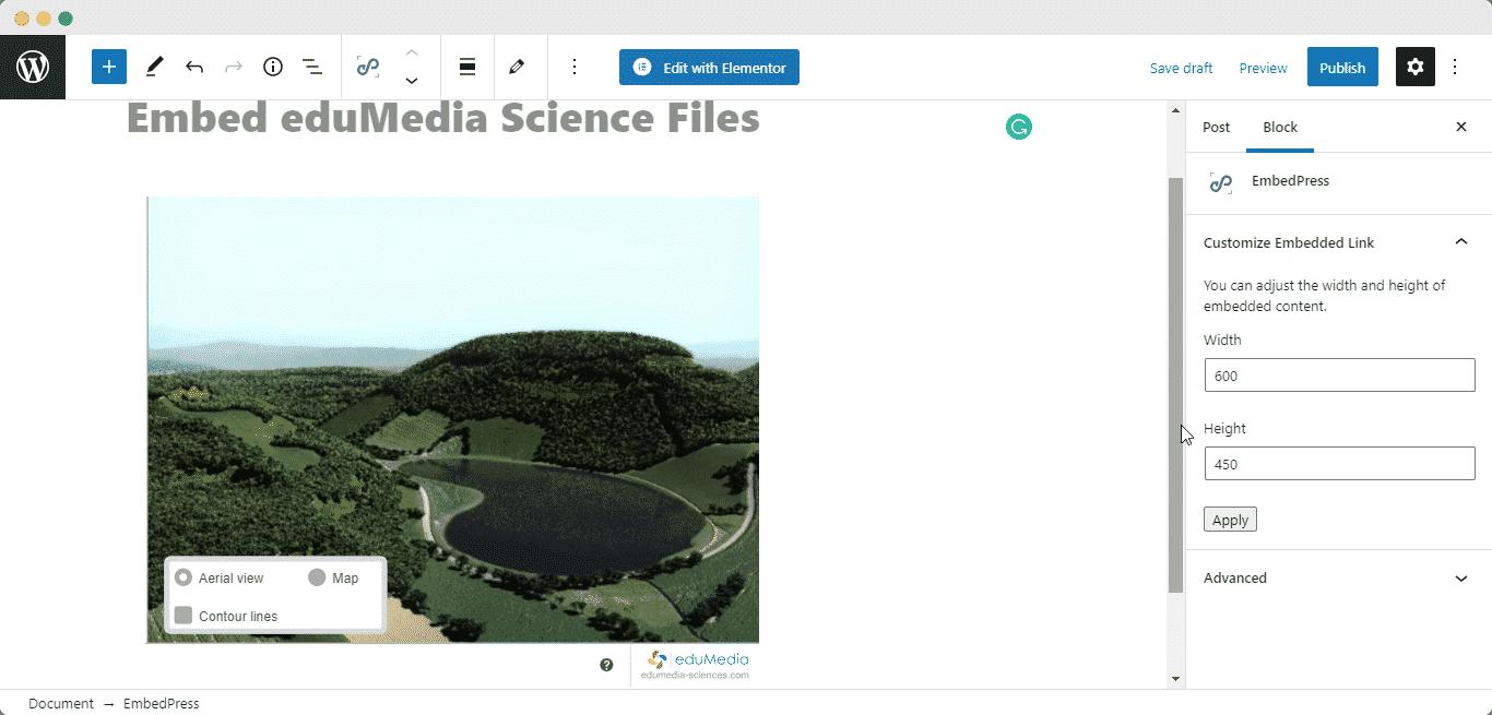 embed eduMedia Science files