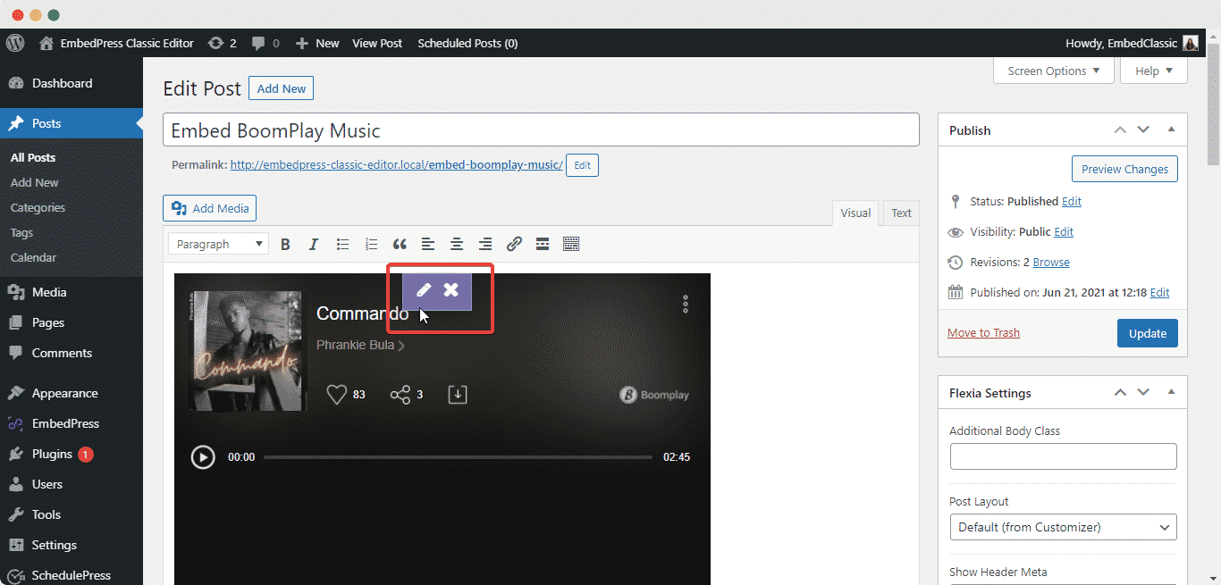 embed BoomPlay music