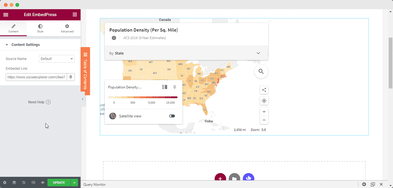 embed Social Explorer maps