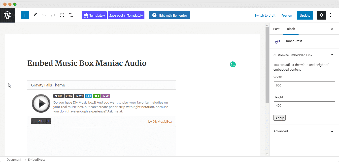 embed Music Box Maniacs melodies
