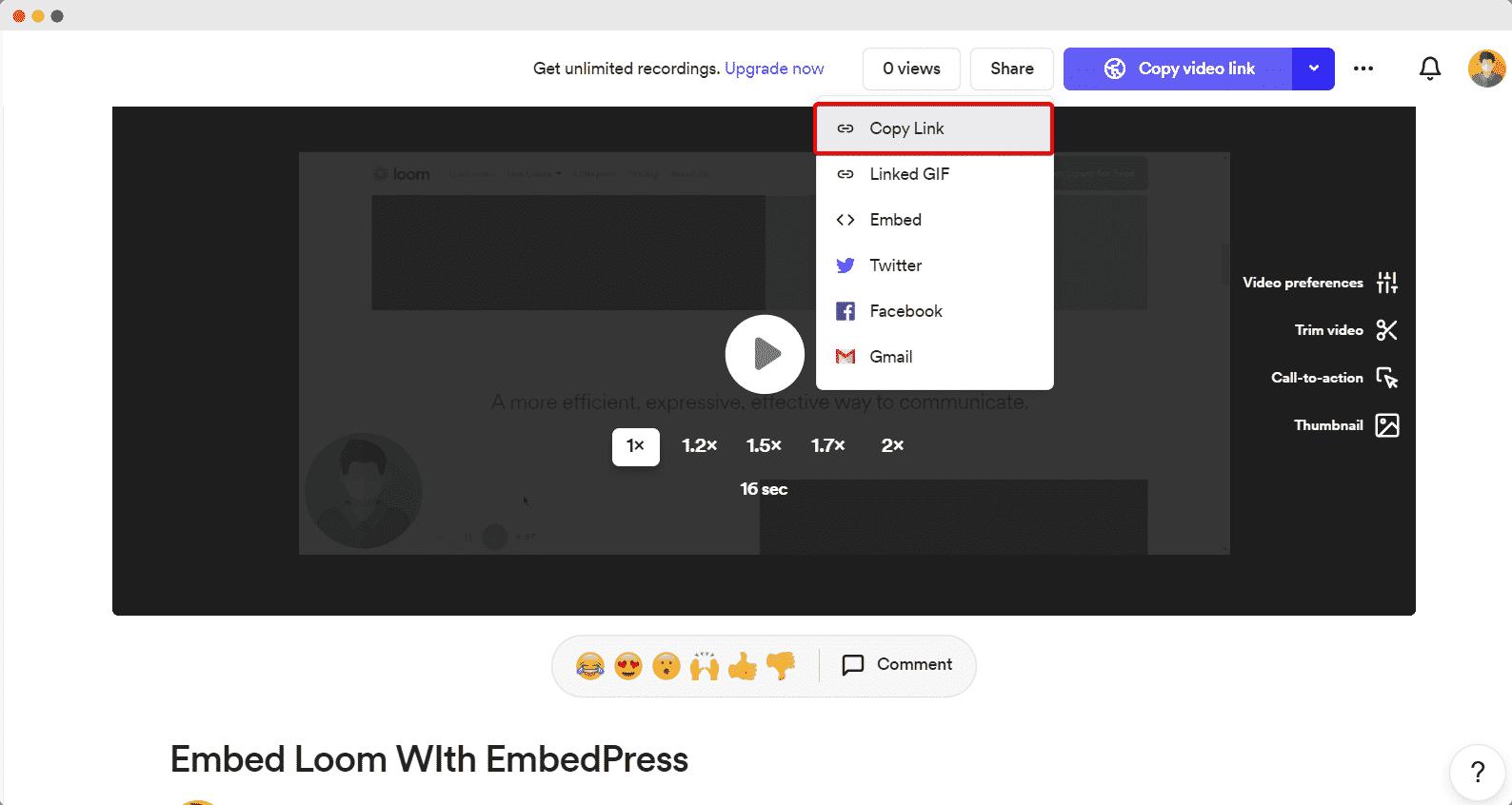 embed Loom video