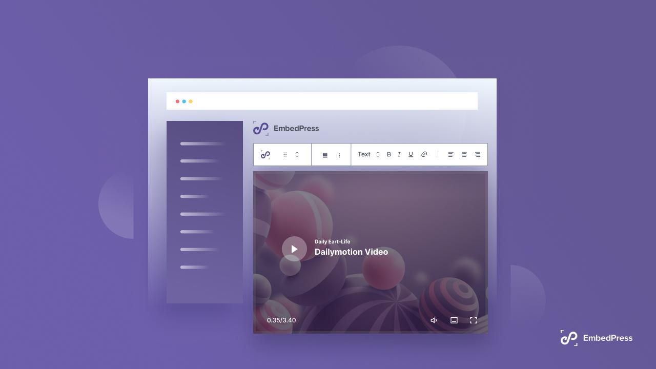 Embed DailyMotion Videos On WordPress